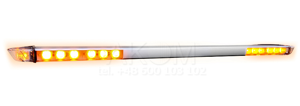 Belka ostrzegawcza PREMIUM LED BP kogut stroboskop